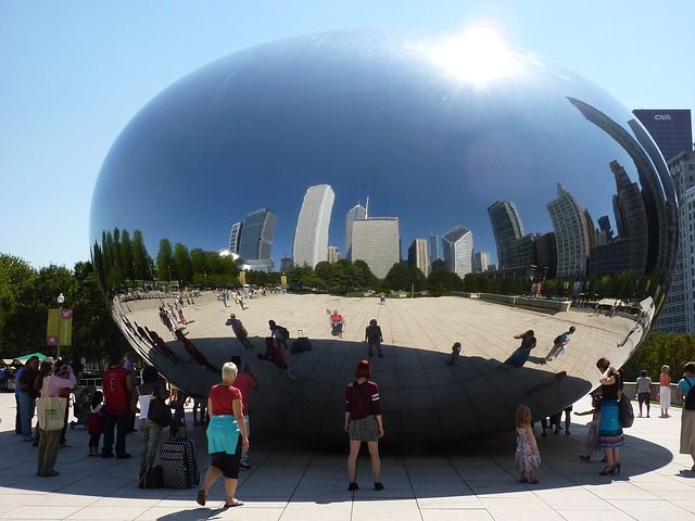 The Bean, one of the most instagrammable places in Chicago