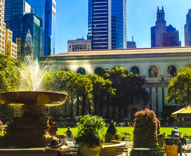 Bryant park is a must on my weekend in manhattan itinerary