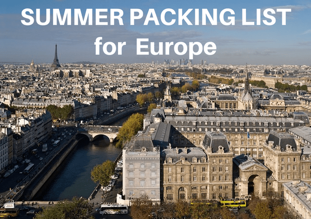Packing List for Europe in Summer