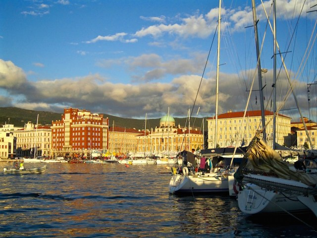 Trieste view from Molo Audace