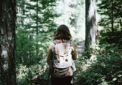 girl hiking in nature