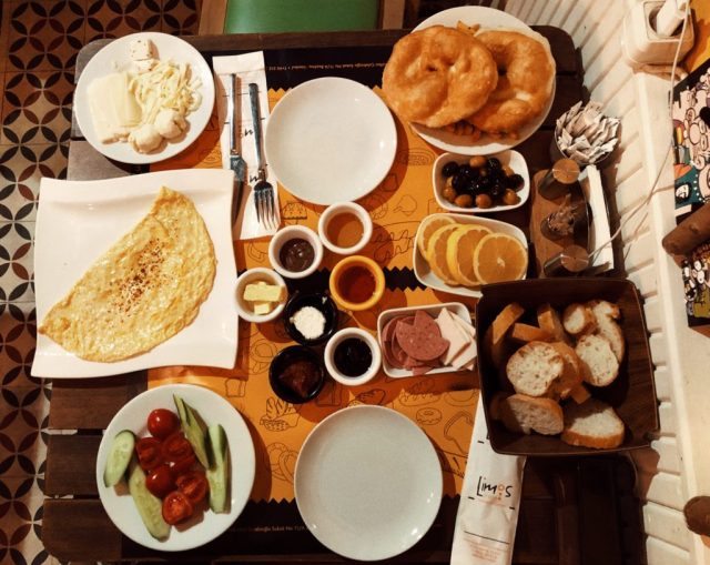 Breakfast at Limos Cafe where to eat in Istanbul travel blogs