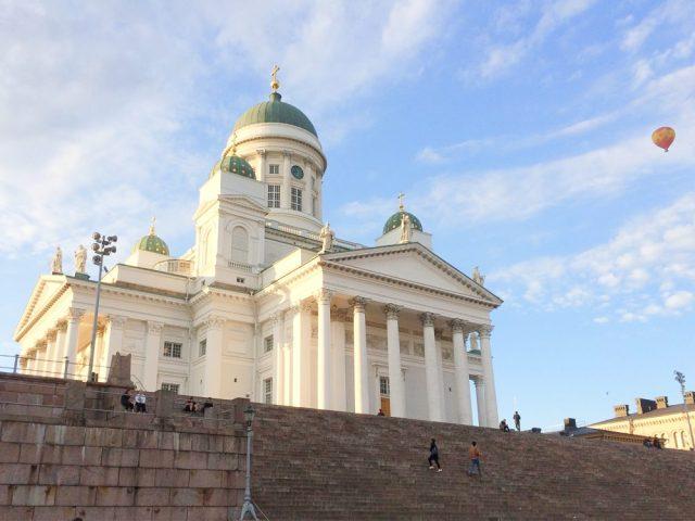 Helsinki cathedral one day in helsinki