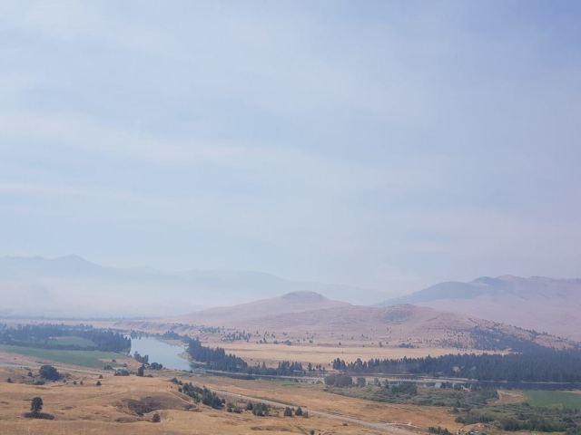 smoky montana skies
