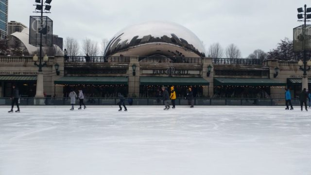 Ice Skating in Chicago is a fun thing to do in Chicago during Thanksgiving Day