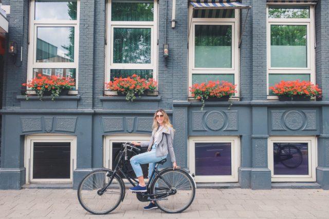 Riding a Bike in Amsterdam travel blog