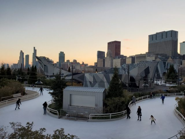 Skating ribbon at Maggie Daley Park in Chicago