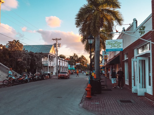Duval Street in the evening