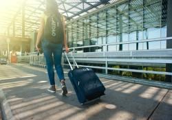 woman luggage
