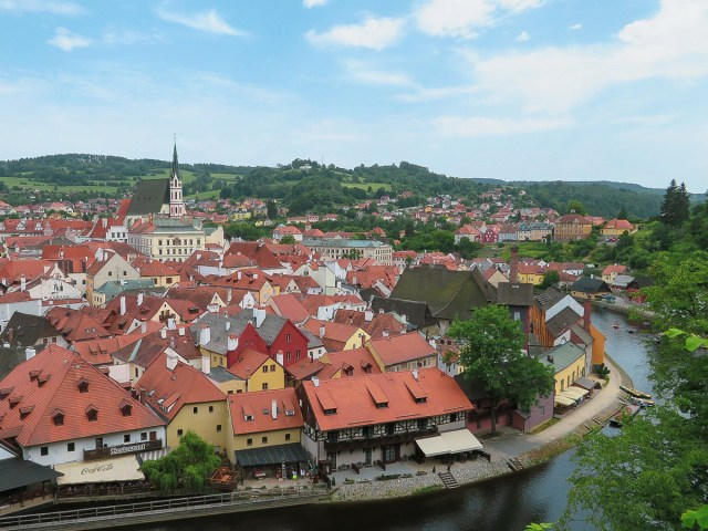 view of Cesky Krumlov on Czech Republic Road Trip