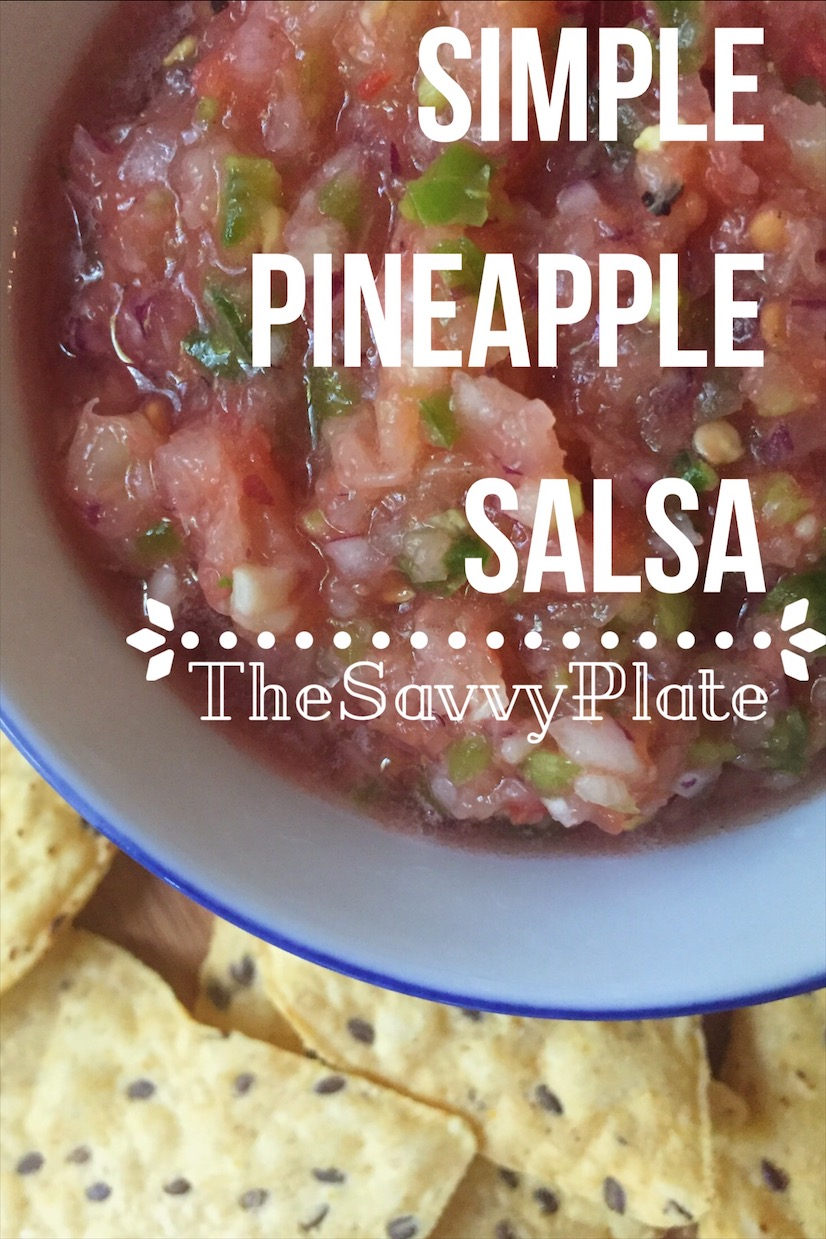 Simple Pineapple Salsa – This fresh and healthy salsa has no added sugar, so it's a great alternative to a store-bought jar. It's delicious with chips or tacos, and it's perfect as a snack or as an addition to your next Mexican night!