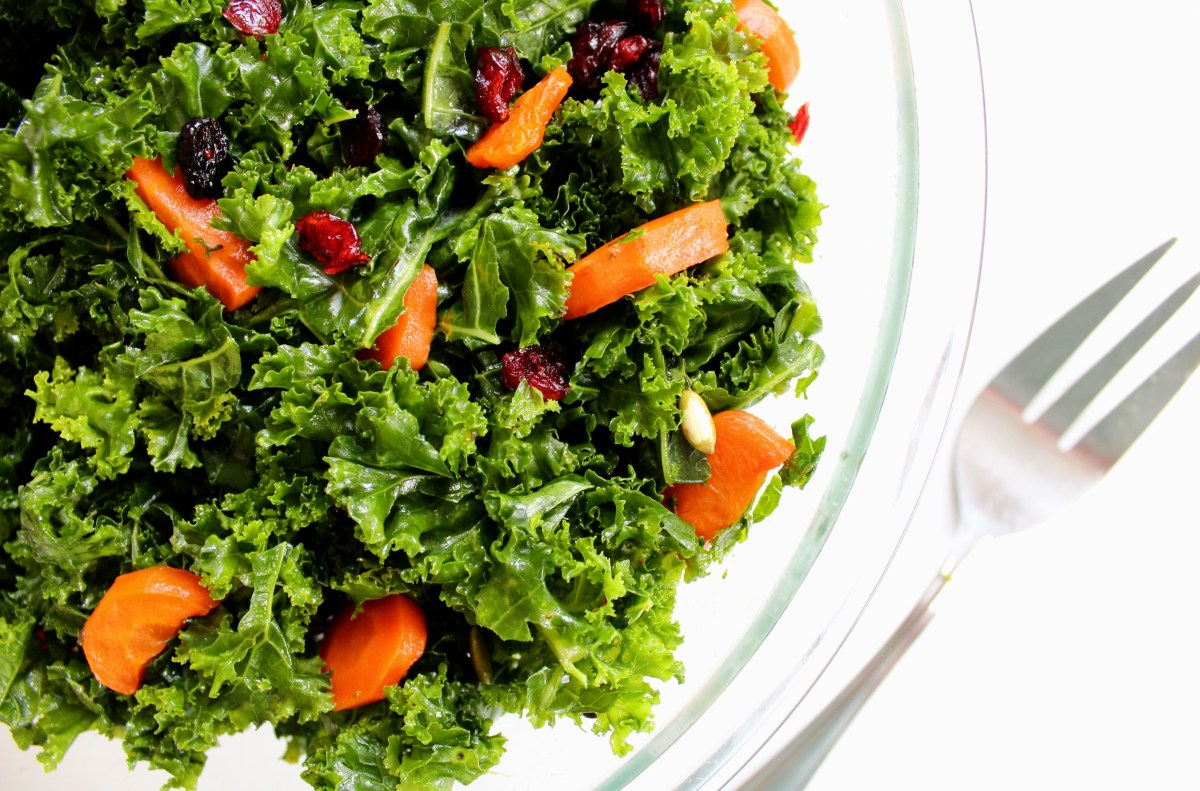 Roasted Carrot & Kale Salad