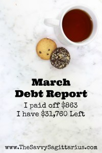 How I paid off $850+ in debt during the month of March