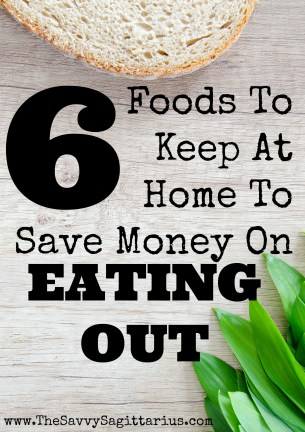 Tired of getting home and realizing that you are too tired to cook? Keep these 6 foods at home to help save money on eating out!