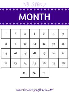 join my no spend month challenge the savvy sagittarius