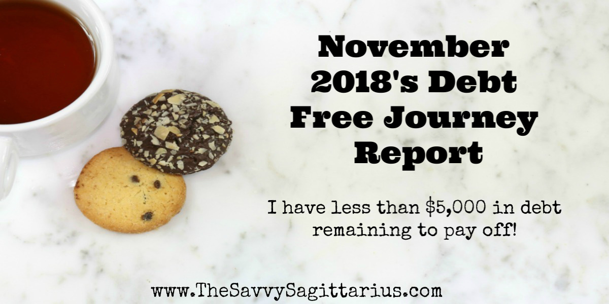 Every month, I write a report to show the struggles and changes of my debt free journey. I have paid off about $32,000 in debt in the last two years. Here are just a few of November 2018's struggles and things looking into December