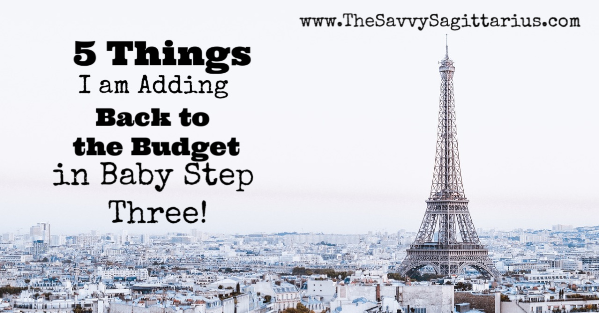 When I started my debt free journey, I cut a lot of things out of my budget. Now that I am done with baby step two, I am adding a few things into my budget! Check out these 5 things that I will spend money on again!