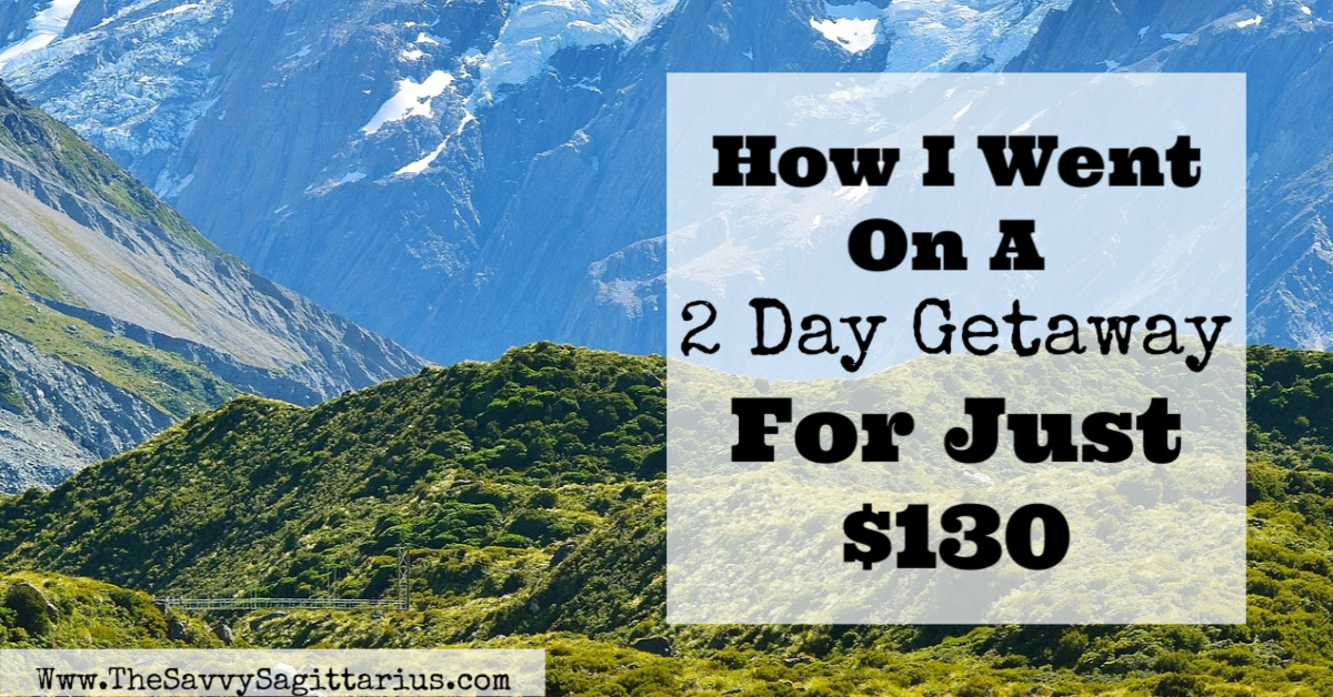 Sometimes a mini vacation is exactly what you need to feel refreshed and ready to work again! A weekend getaway is the PERFECT way to do this, but it doesn't have to be expensive! Here are a few tips for how I did it for $130