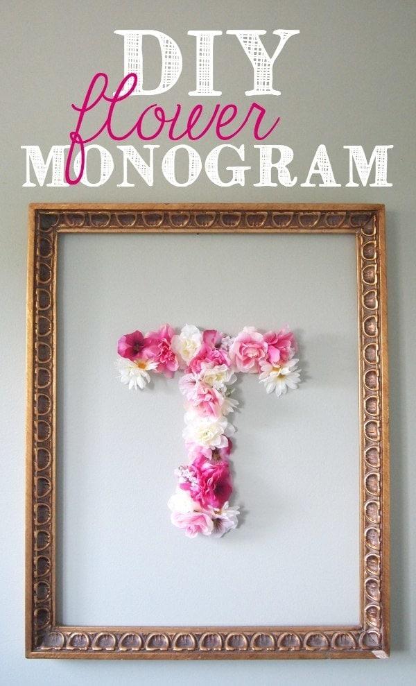 DIY flower monogram