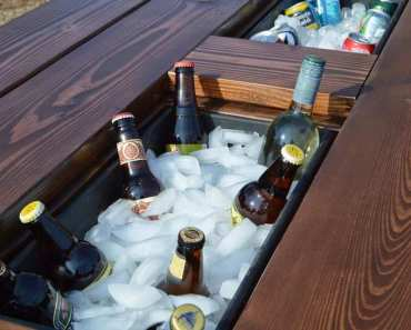 DIY Cooler Picnic Table