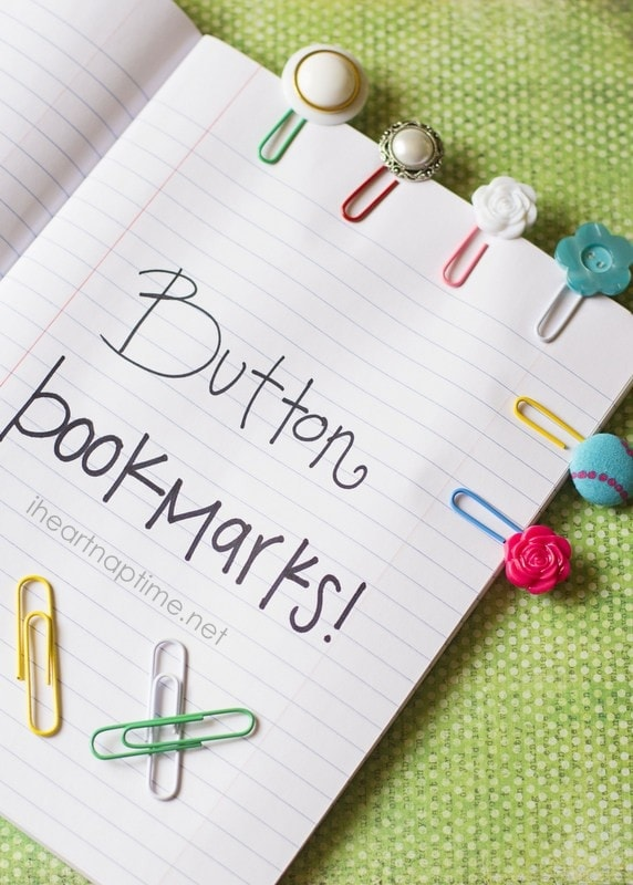 DIY button bookmarks