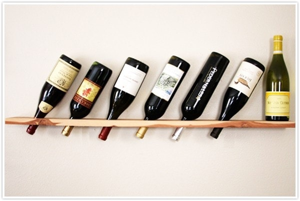 Wood plank wine rack