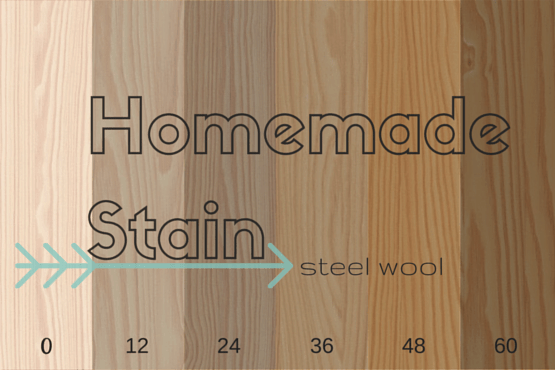 how to make steel wool stain