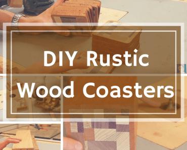 DIY Rustic Wooden Coasters