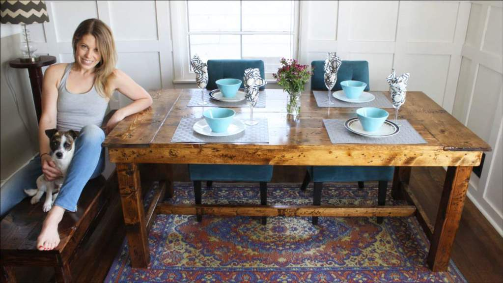 ... Chairs And Bright Colored Tableware, Or You Can Go For A Natural  Down To Earth Look With A Rustic Bench U2013 So Many Possibilities For This  Kitchen Table.
