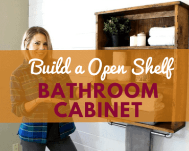 DIY bathroom cabinet project