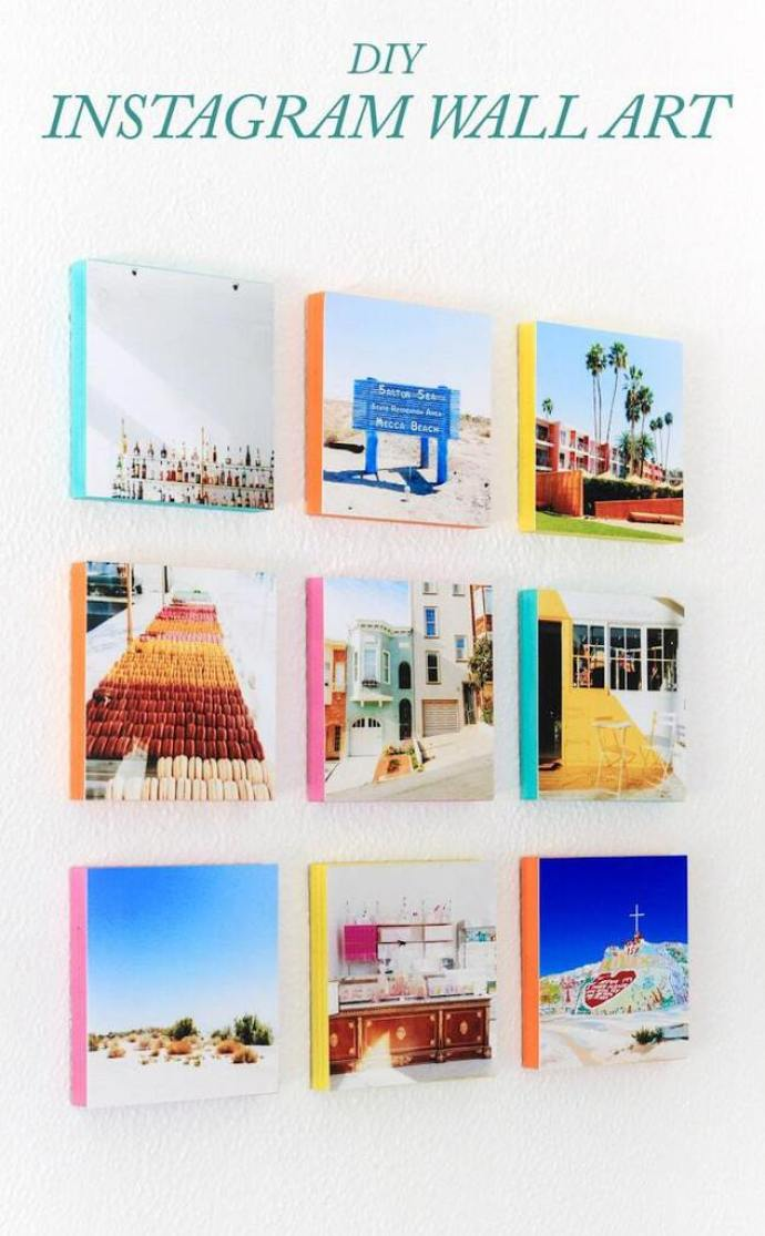 Instagram wall art - DIY project