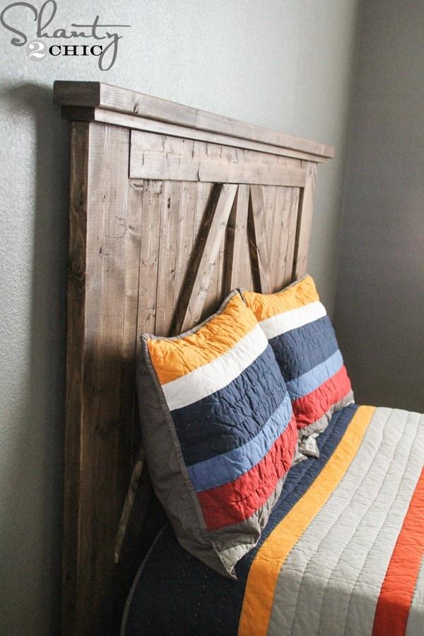 smaller barn door headboard