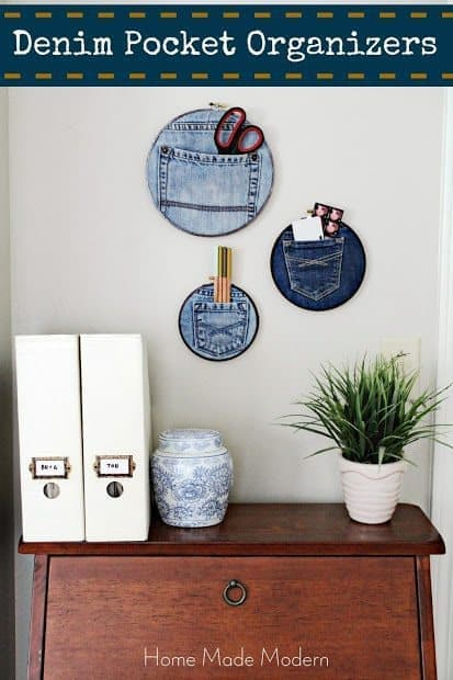 Denim pocket organizers
