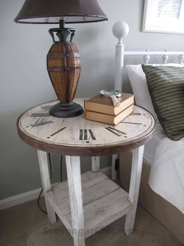 End Table With Vintage Style
