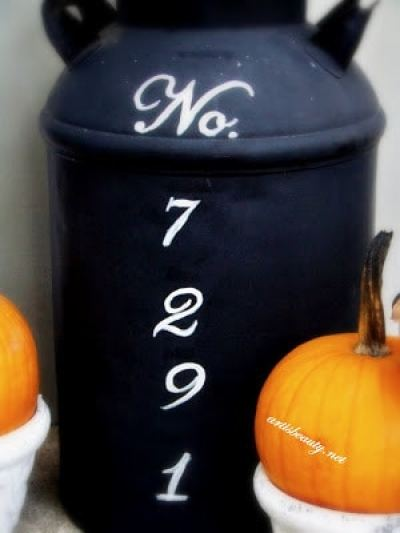 DIY Milk Can House Number