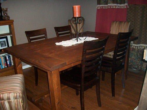 DIY Distressed Wood Table