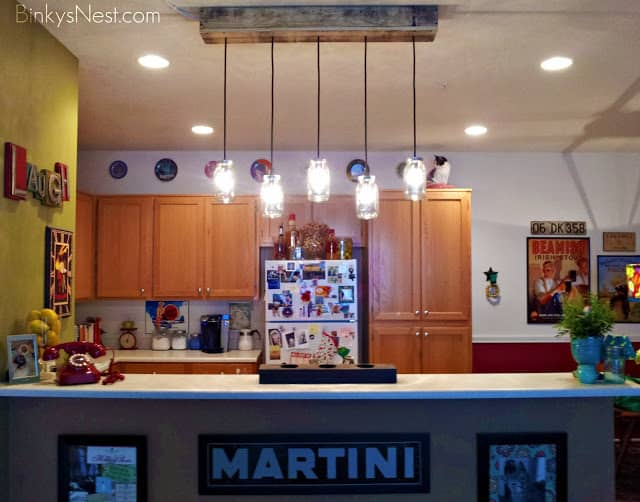 Pallet Mason Jar Light Fixture