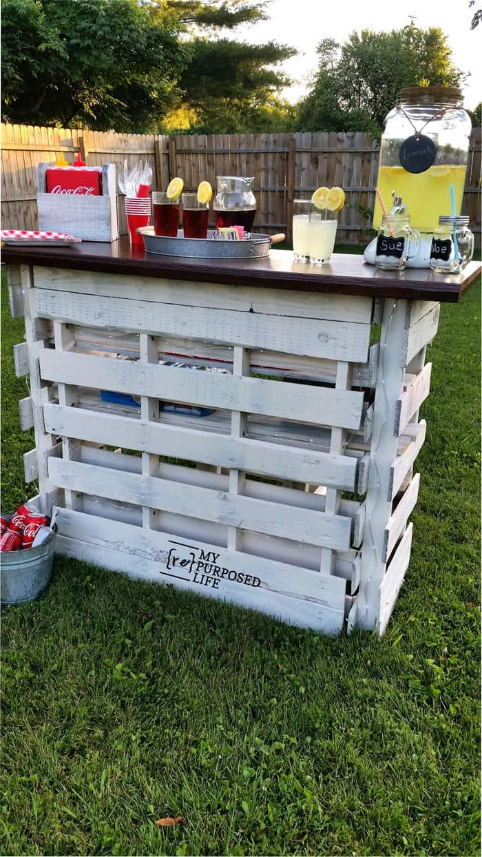 15 Epic Pallet Bar Ideas To Transform Your Space The Saw Guy