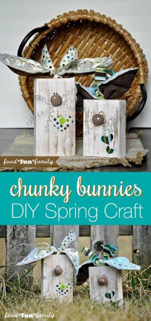 DIY Wooden Block Bunnies