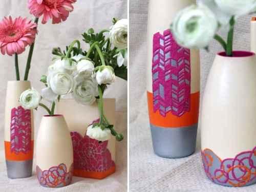 DIY Textured Glass Vase