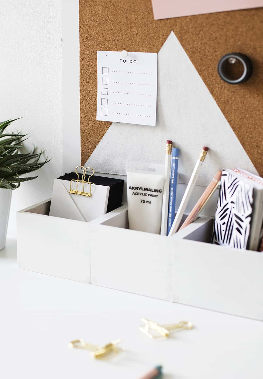diy office gifts. Simple Desk Top Organizer Diy Office Gifts