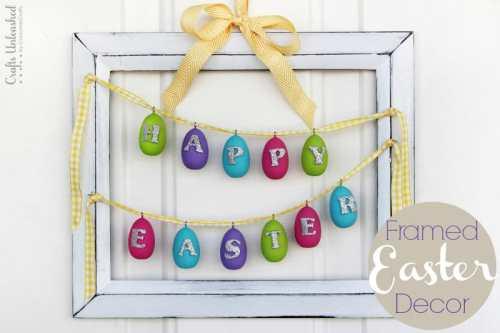 Framed DIY Easter Art