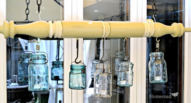 Mason Jar Peppermill Chandelier