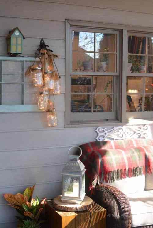 Beautiful Mason Lit Mason Jar Decoration