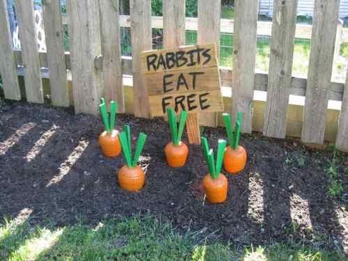 DIY Carrot Yard Ornaments