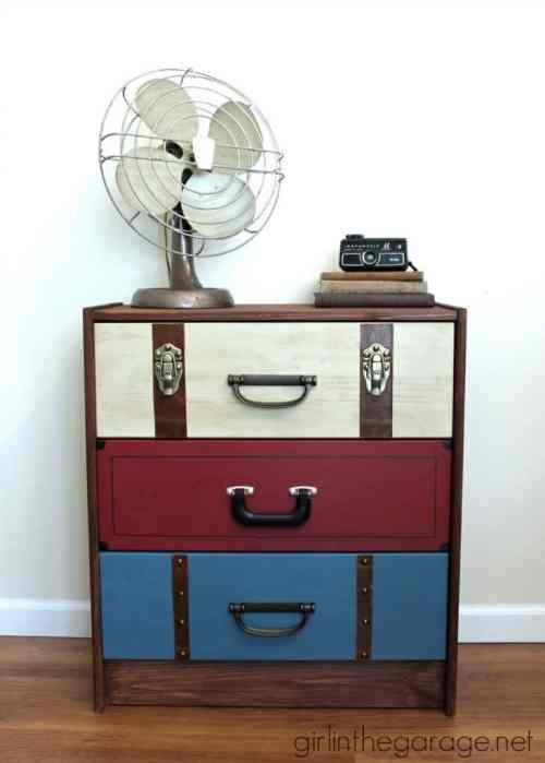 DIY Suitcase Style Dresser