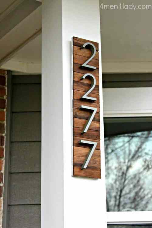 DIY Industrial Address Sign