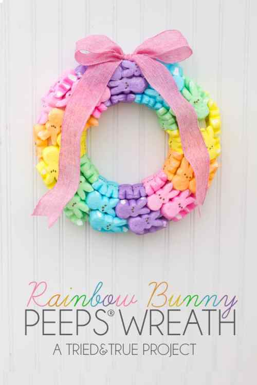 Colorful DIY Easter Wreath