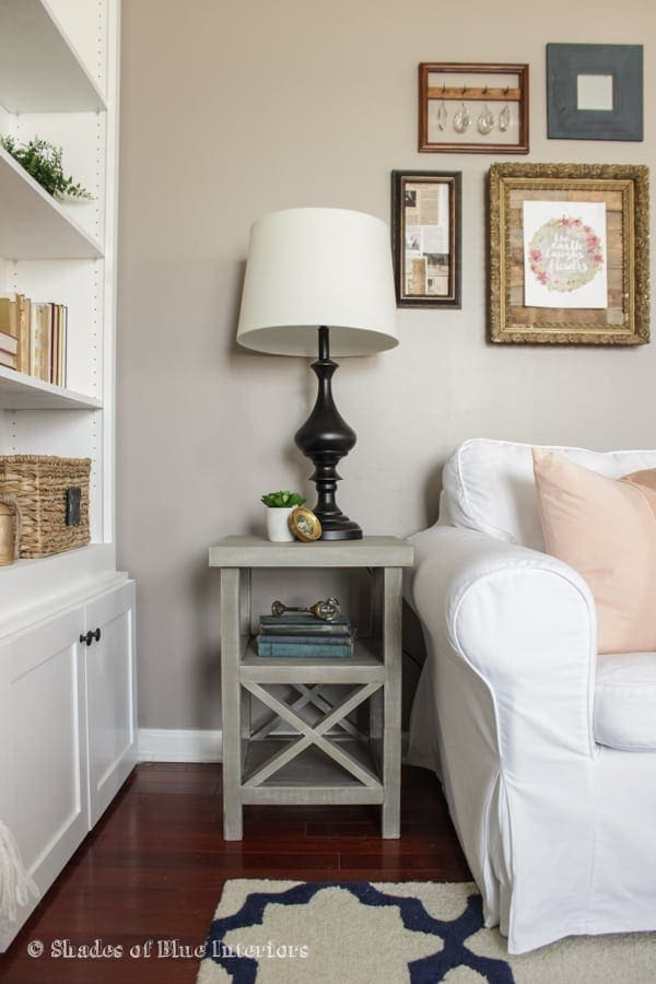 Double X Style Side Table