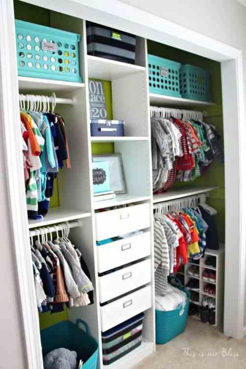 Baby Closet Makeover